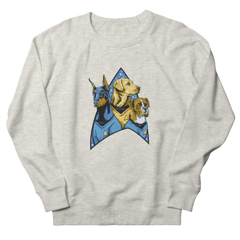 Bark Trek Women's French Terry Sweatshirt by bennygraphix's Artist Shop