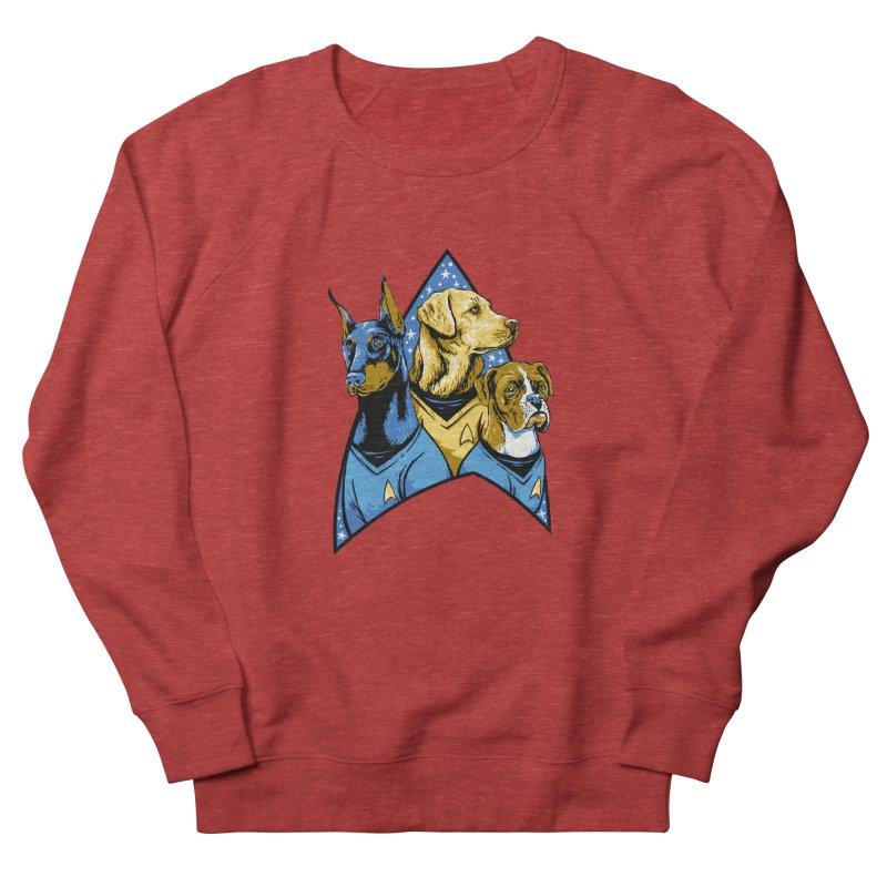 Bark Trek Men's French Terry Sweatshirt by bennygraphix's Artist Shop