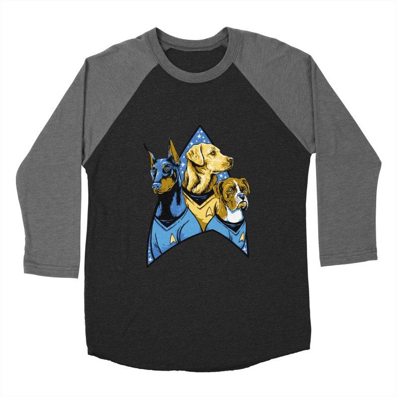 Bark Trek Men's Baseball Triblend Longsleeve T-Shirt by bennygraphix's Artist Shop
