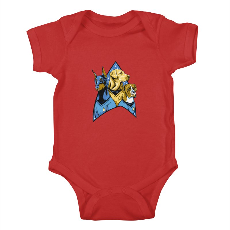 Bark Trek Kids Baby Bodysuit by bennygraphix's Artist Shop