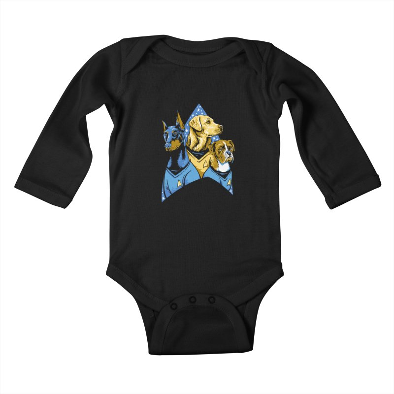 Bark Trek Kids Baby Longsleeve Bodysuit by bennygraphix's Artist Shop