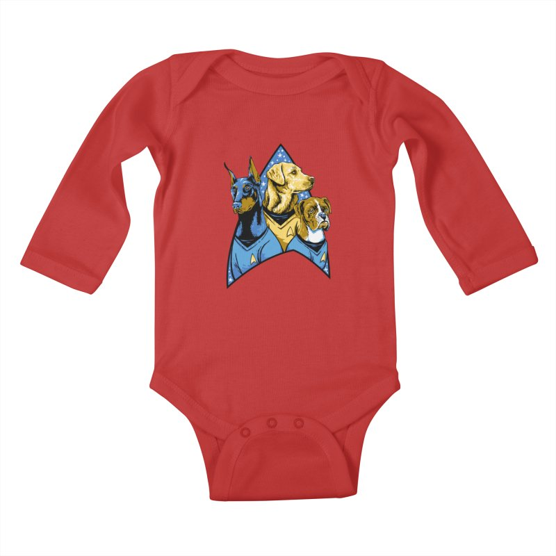 Bark Trek Kids Baby Longsleeve Bodysuit by bennygraphix's Artist Shop