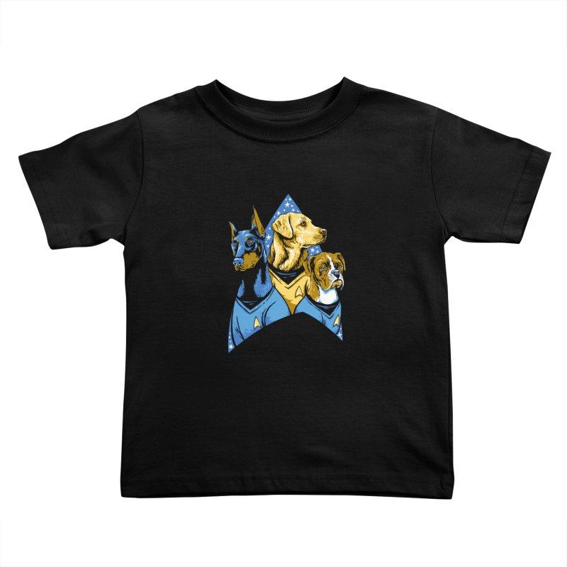 Bark Trek Kids Toddler T-Shirt by bennygraphix's Artist Shop