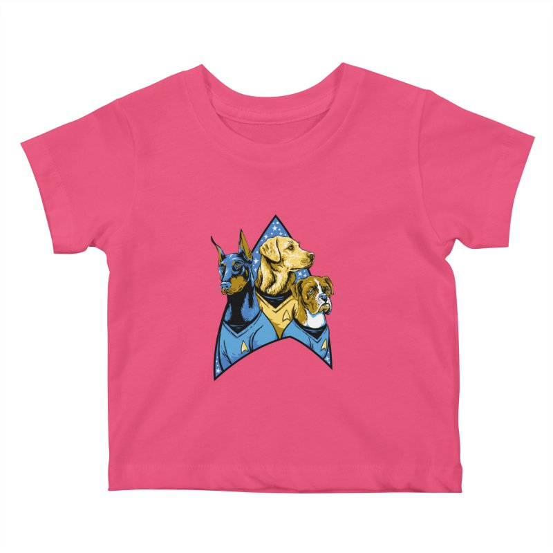Bark Trek Kids Baby T-Shirt by bennygraphix's Artist Shop