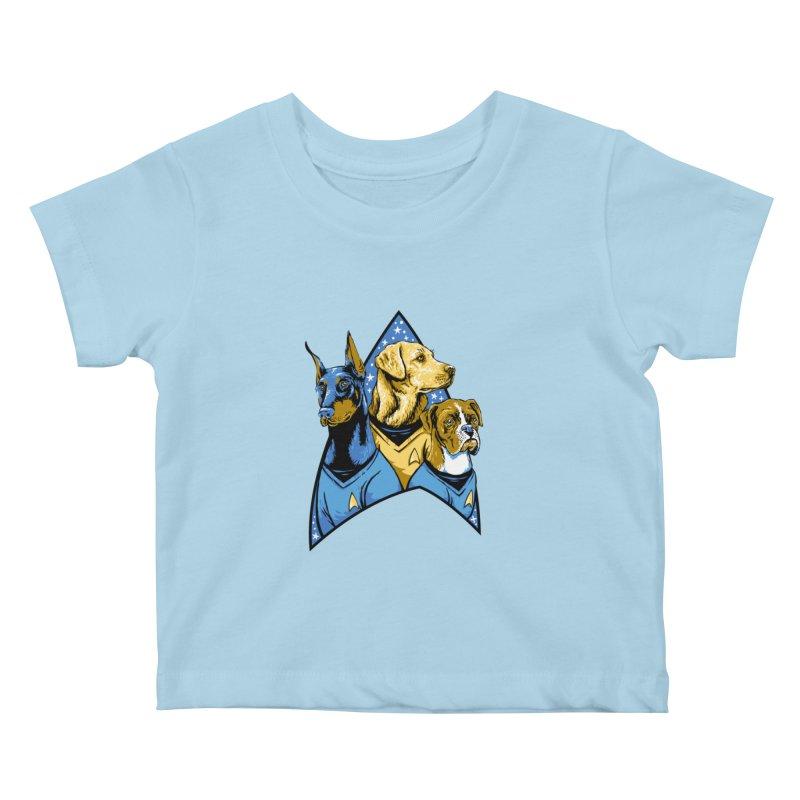 Bark Trek Kids Baby T-Shirt by bennygraphix's Artist Shop
