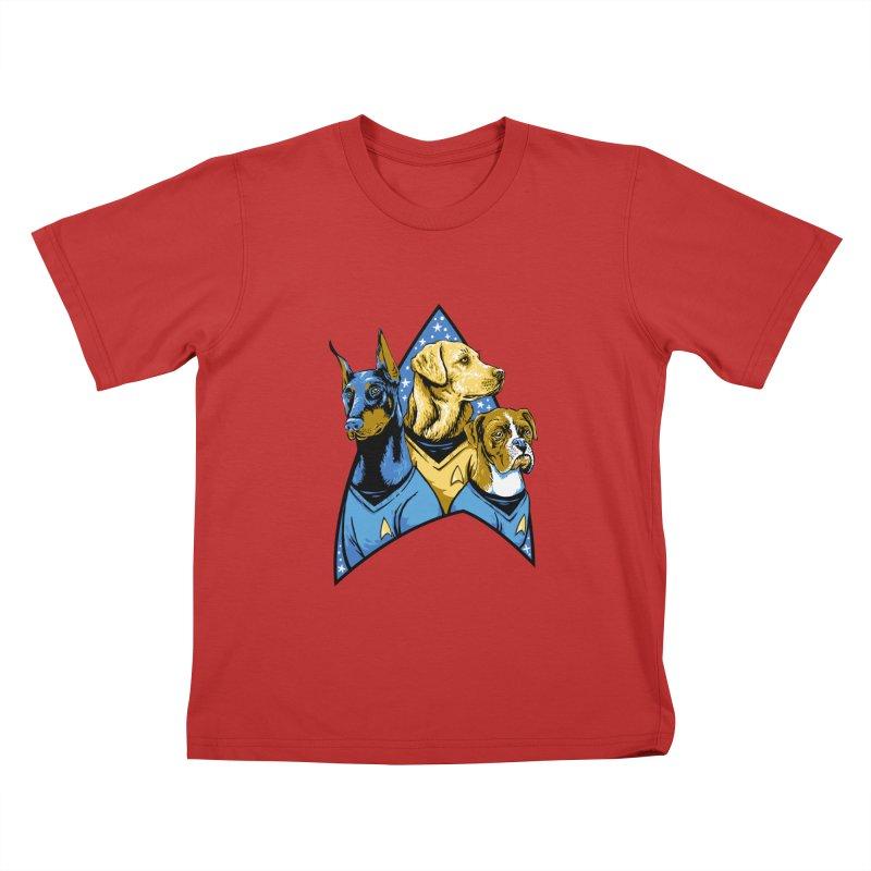 Bark Trek Kids T-Shirt by bennygraphix's Artist Shop