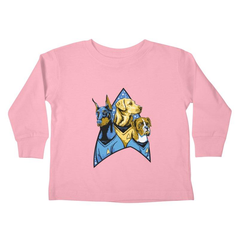 Bark Trek Kids Toddler Longsleeve T-Shirt by bennygraphix's Artist Shop
