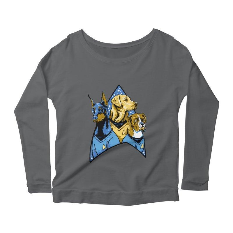 Bark Trek Women's Scoop Neck Longsleeve T-Shirt by bennygraphix's Artist Shop