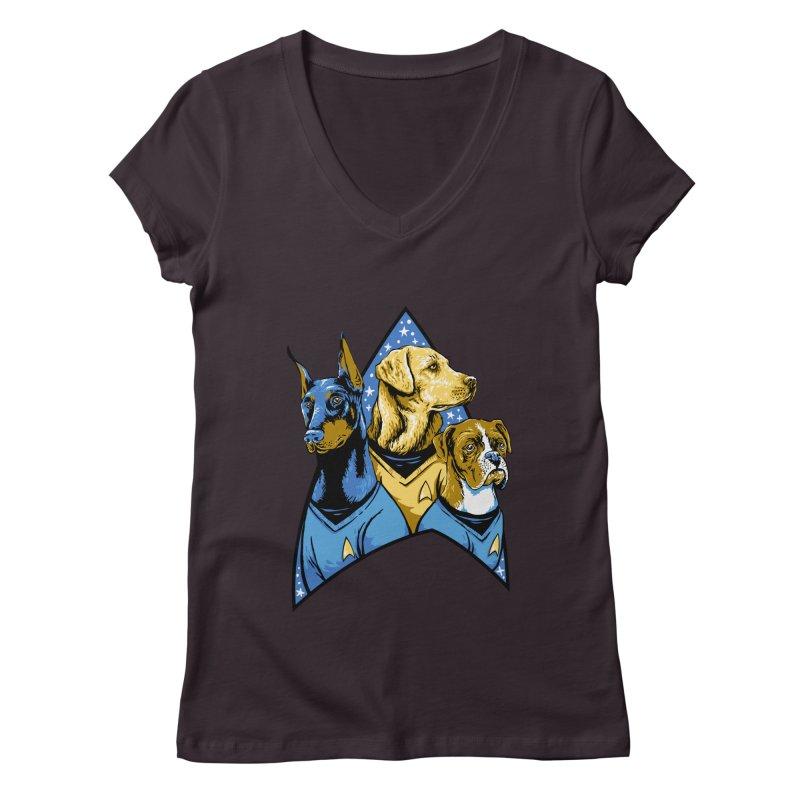 Bark Trek Women's Regular V-Neck by bennygraphix's Artist Shop