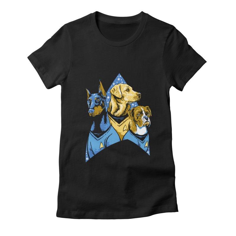 Bark Trek Women's Fitted T-Shirt by bennygraphix's Artist Shop