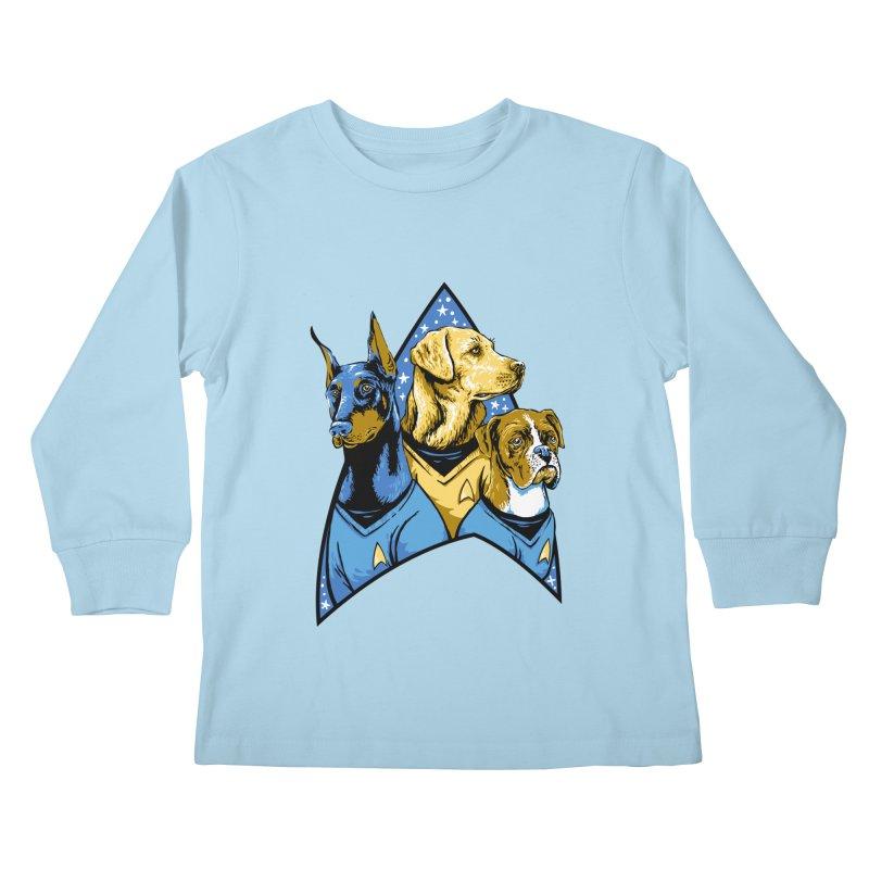 Bark Trek Kids Longsleeve T-Shirt by bennygraphix's Artist Shop