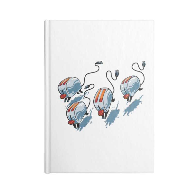 Wild Toasters Accessories Blank Journal Notebook by bennygraphix's Artist Shop