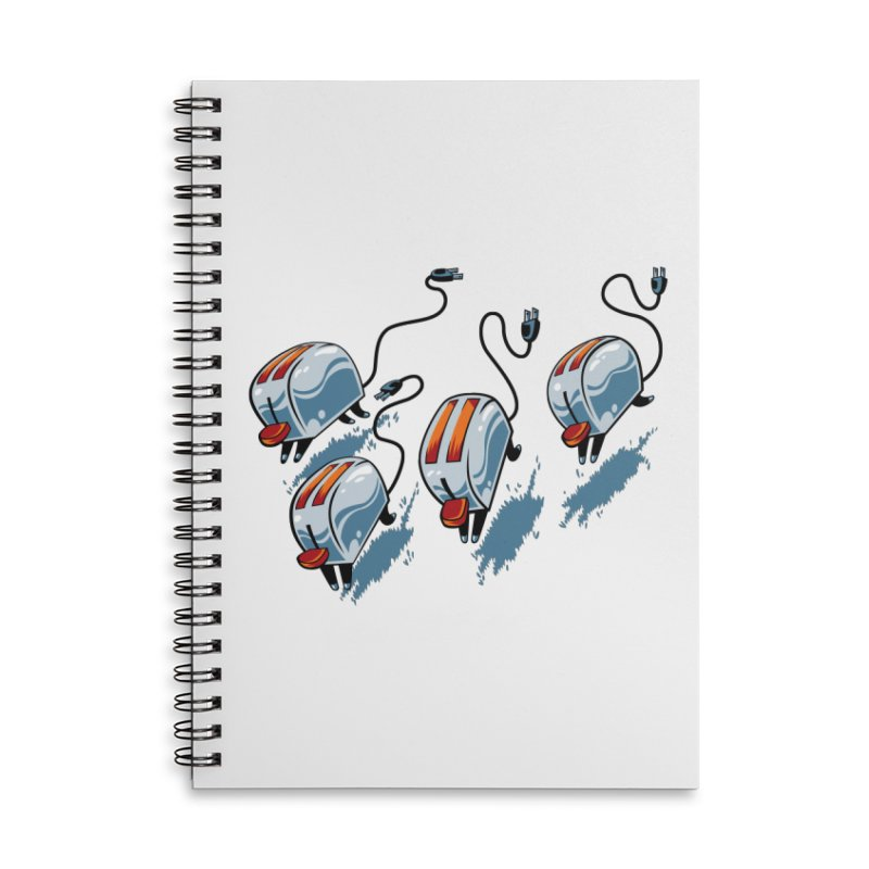 Wild Toasters Accessories Lined Spiral Notebook by bennygraphix's Artist Shop
