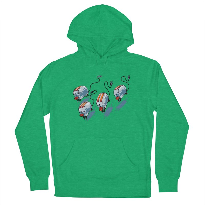 Wild Toasters Men's French Terry Pullover Hoody by bennygraphix's Artist Shop