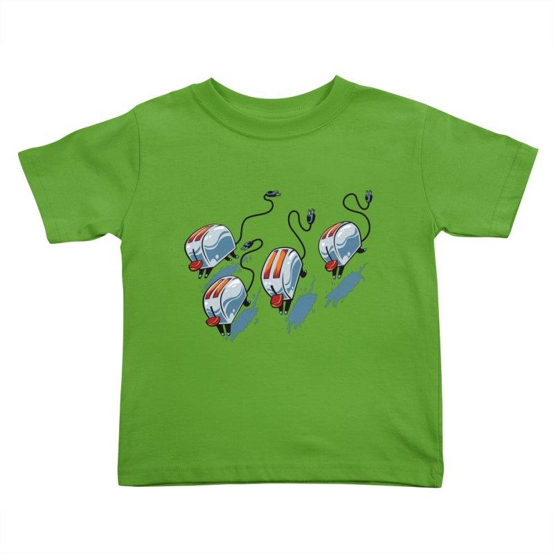 Wild Toasters Kids Toddler T-Shirt by bennygraphix's Artist Shop