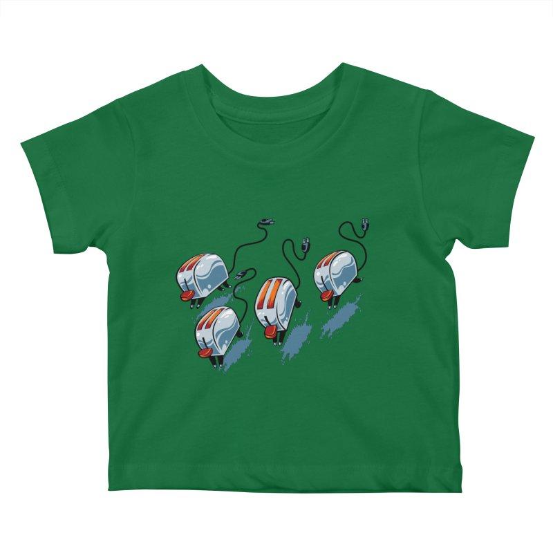 Wild Toasters Kids Baby T-Shirt by bennygraphix's Artist Shop