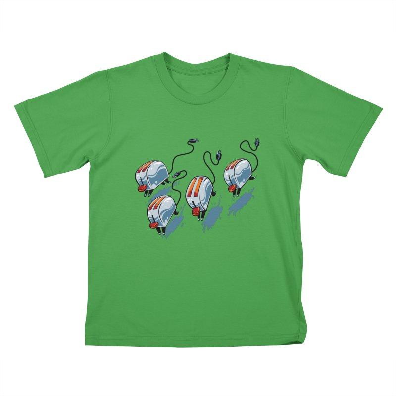 Wild Toasters Kids T-Shirt by bennygraphix's Artist Shop