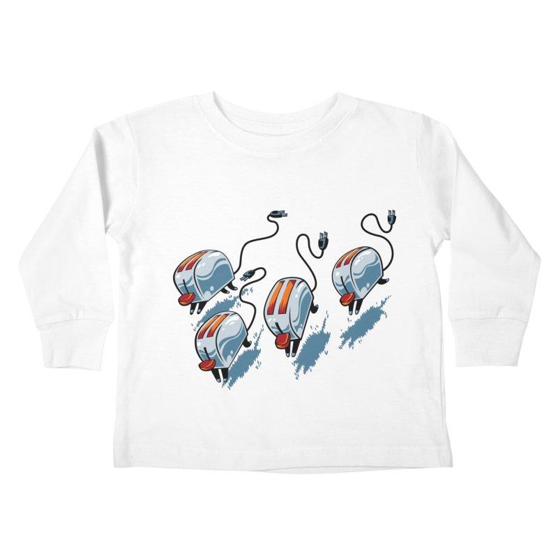 Wild Toasters Kids Toddler Longsleeve T-Shirt by bennygraphix's Artist Shop
