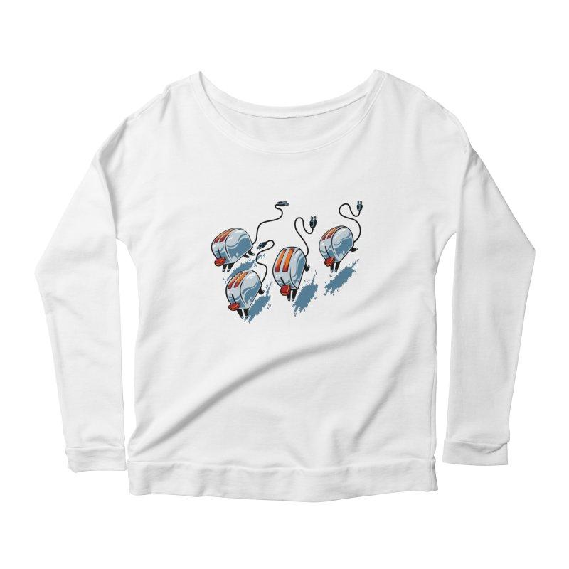 Wild Toasters Women's Scoop Neck Longsleeve T-Shirt by bennygraphix's Artist Shop
