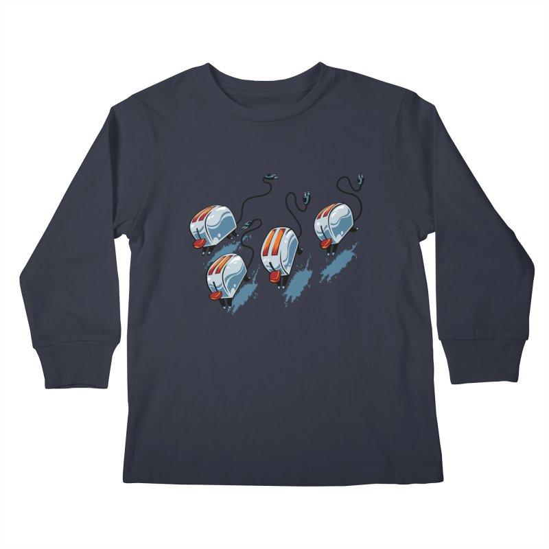 Wild Toasters Kids Longsleeve T-Shirt by bennygraphix's Artist Shop