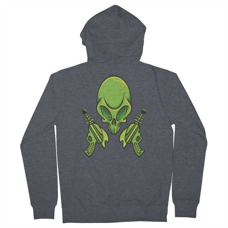 Alien Skull Women's Zip-Up Hoody by bennygraphix's Artist Shop