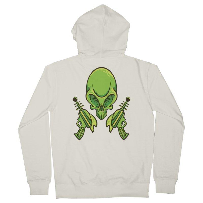 Alien Skull Women's Zip-Up Hoody by bennygraphix's Artist Shop