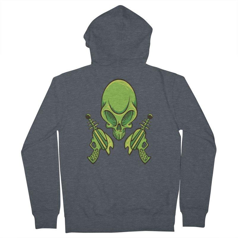 Alien Skull Men's Zip-Up Hoody by bennygraphix's Artist Shop