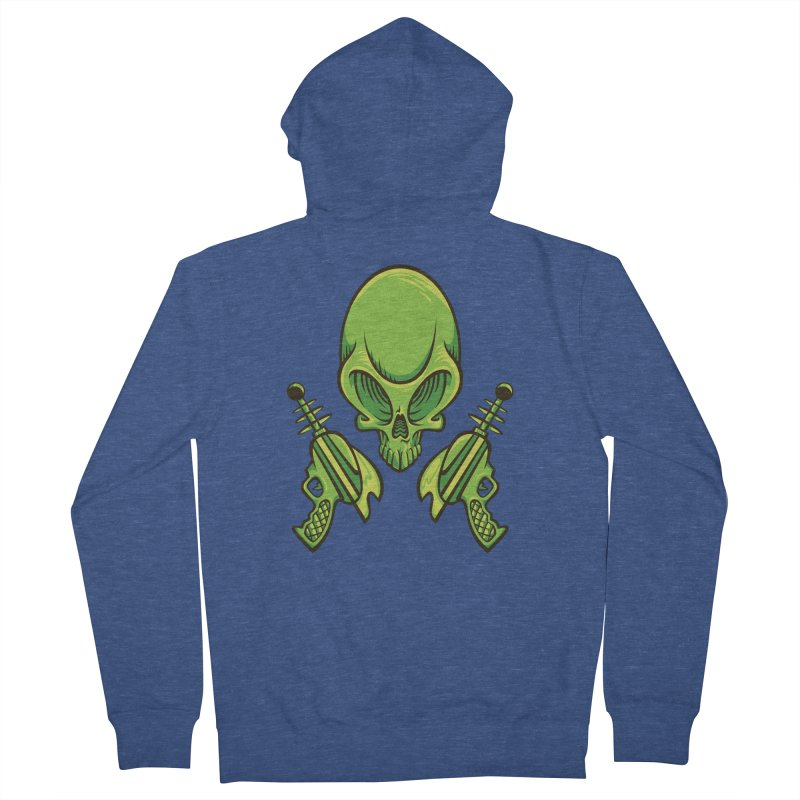 Alien Skull Men's Zip-Up Hoody by bennygraphix's Artist Shop