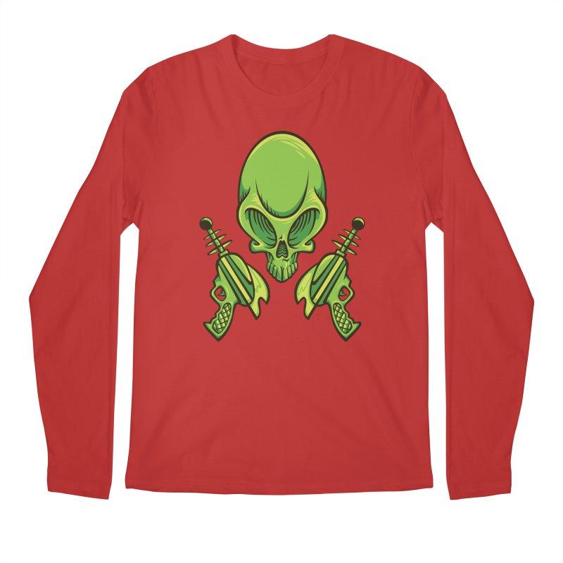 Alien Skull Men's Longsleeve T-Shirt by bennygraphix's Artist Shop