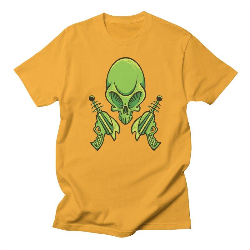 Alien Skull Men's T-Shirt by bennygraphix's Artist Shop