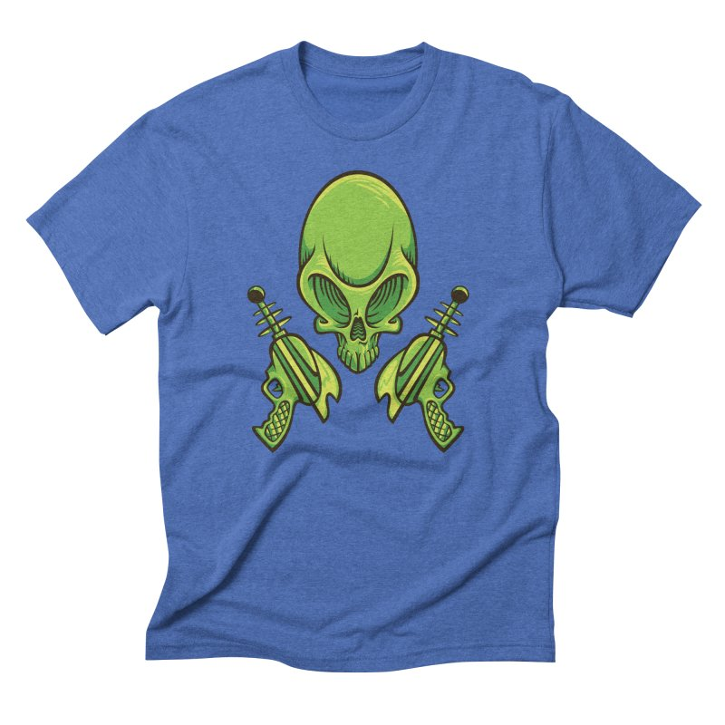 Alien Skull Men's Triblend T-Shirt by bennygraphix's Artist Shop