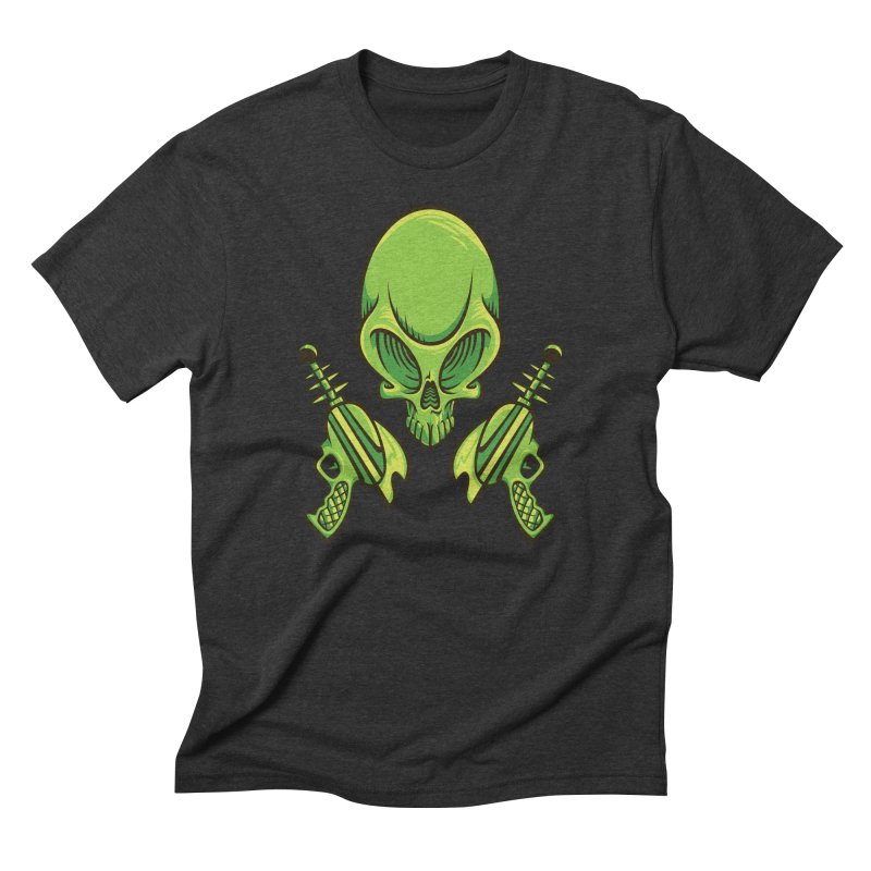 Alien Skull Men's Triblend T-Shirt by bennygraphix's Artist Shop