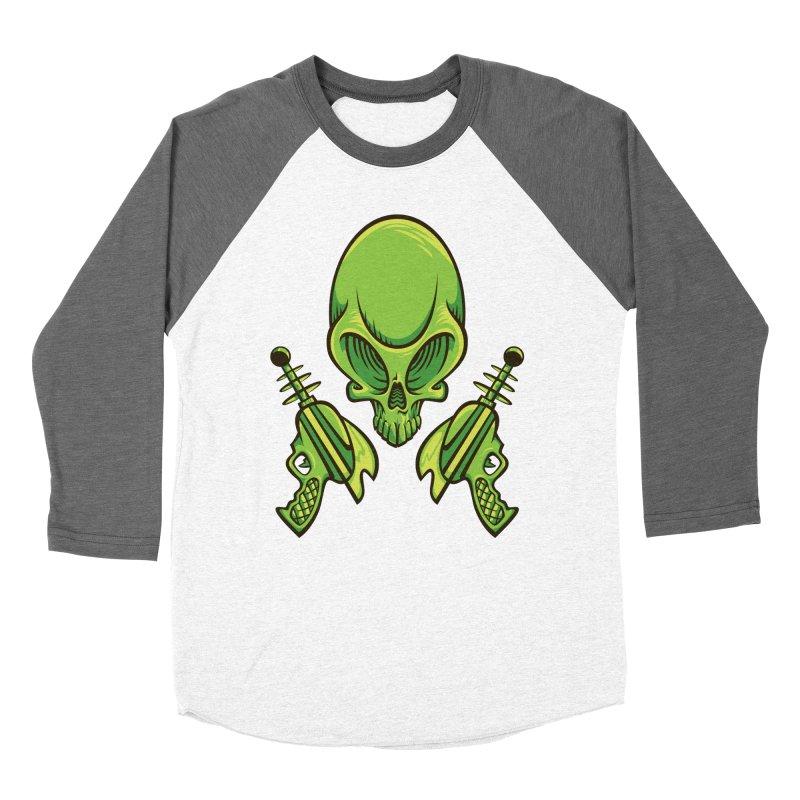 Alien Skull Women's Baseball Triblend T-Shirt by bennygraphix's Artist Shop