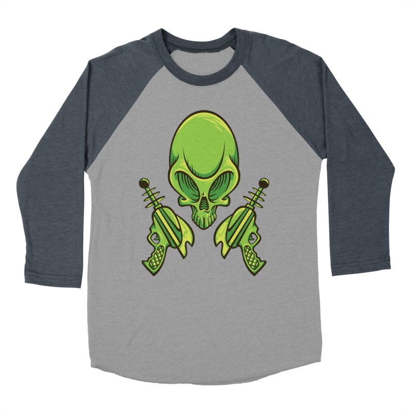 Alien Skull Women's Baseball Triblend T-Shirt by bennygraphix's Artist Shop