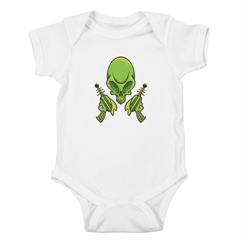 Alien Skull Kids Baby Bodysuit by bennygraphix's Artist Shop