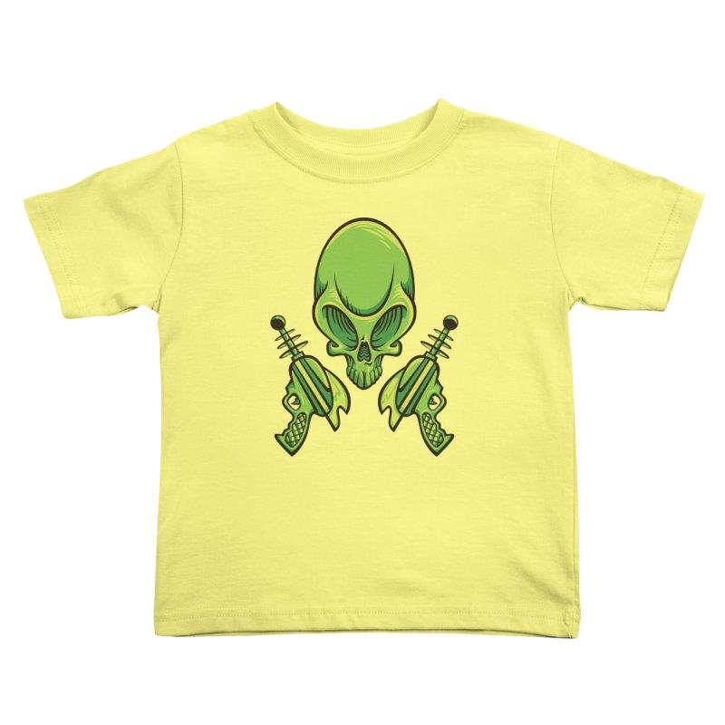 Alien Skull Kids Toddler T-Shirt by bennygraphix's Artist Shop