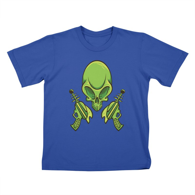 Alien Skull Kids T-shirt by bennygraphix's Artist Shop