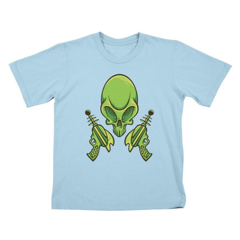 Alien Skull Kids T-shirt by bennygraphix's Artist Shop