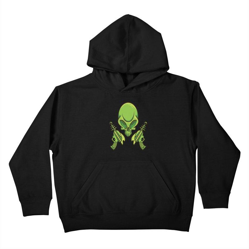 Alien Skull Kids Pullover Hoody by bennygraphix's Artist Shop