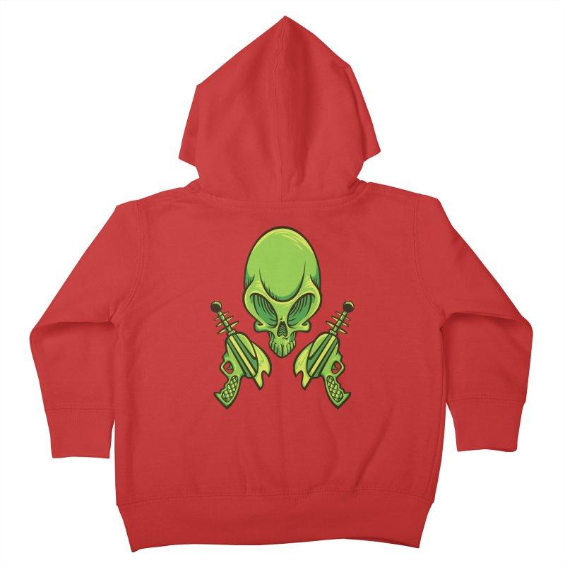 Alien Skull Kids Toddler Zip-Up Hoody by bennygraphix's Artist Shop
