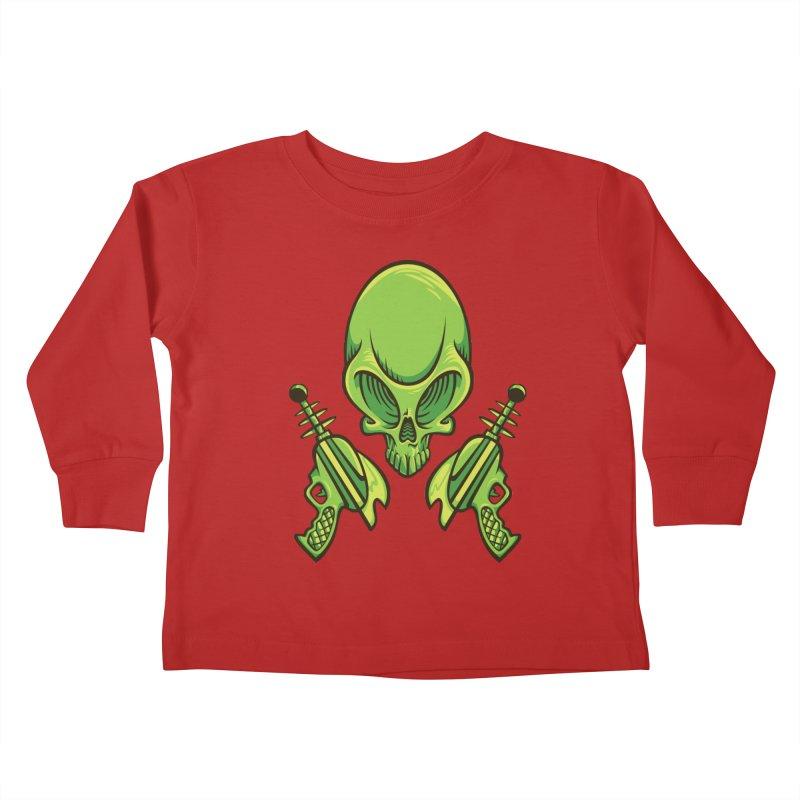 Alien Skull Kids Toddler Longsleeve T-Shirt by bennygraphix's Artist Shop