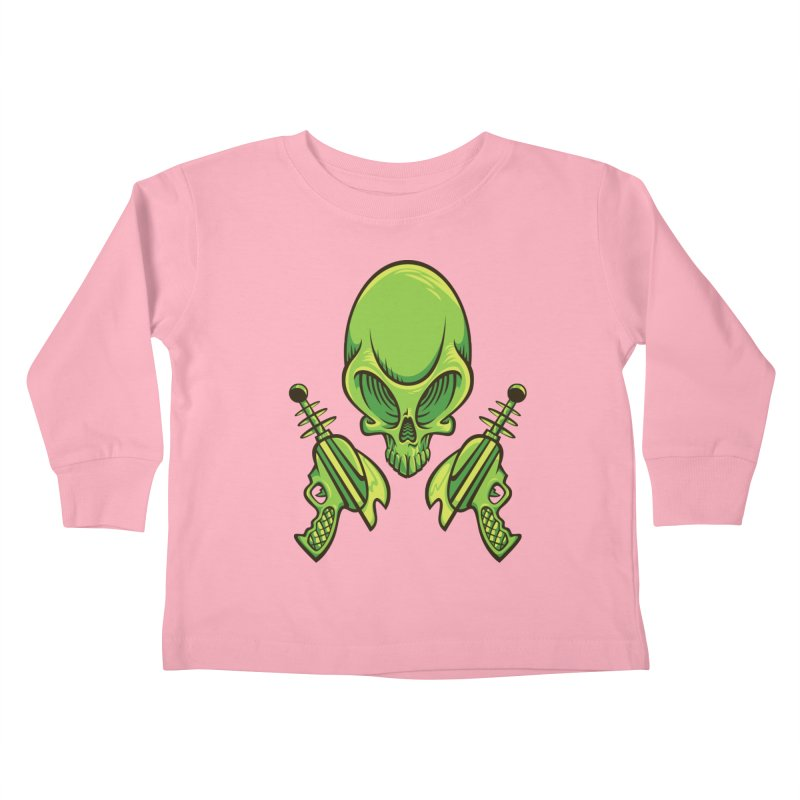 Alien Skull Kids Toddler Longsleeve T-Shirt by bennygraphix's Artist Shop