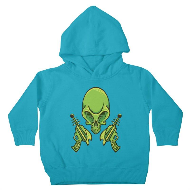 Alien Skull Kids Toddler Pullover Hoody by bennygraphix's Artist Shop