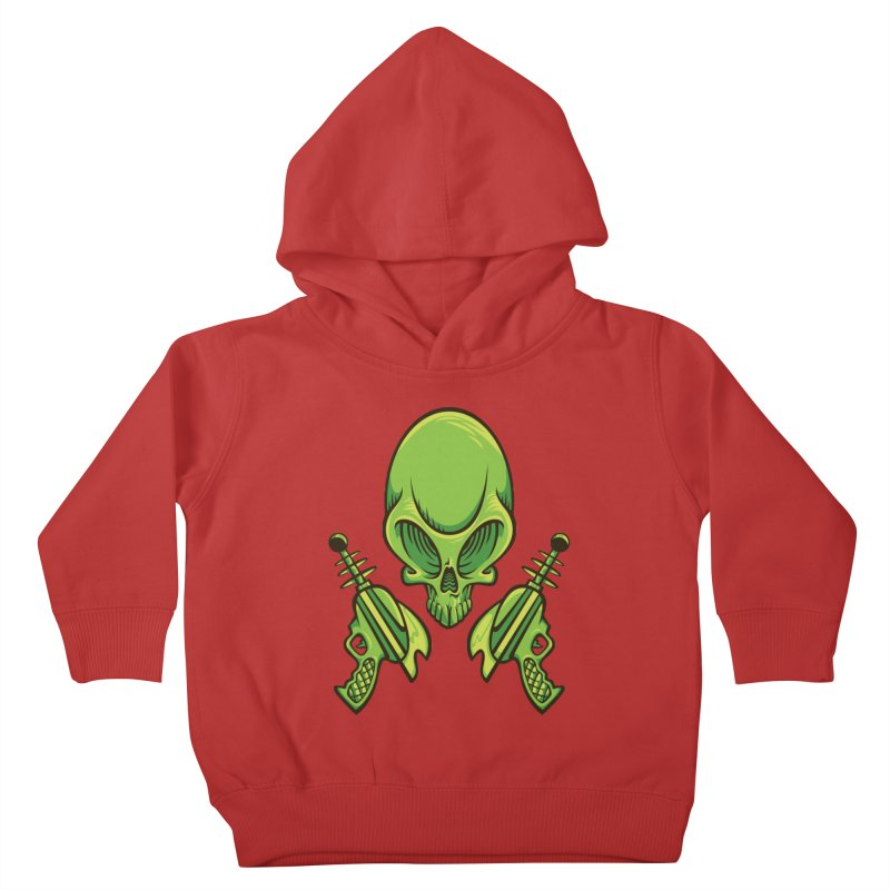 Alien Skull Kids Toddler Pullover Hoody by bennygraphix's Artist Shop