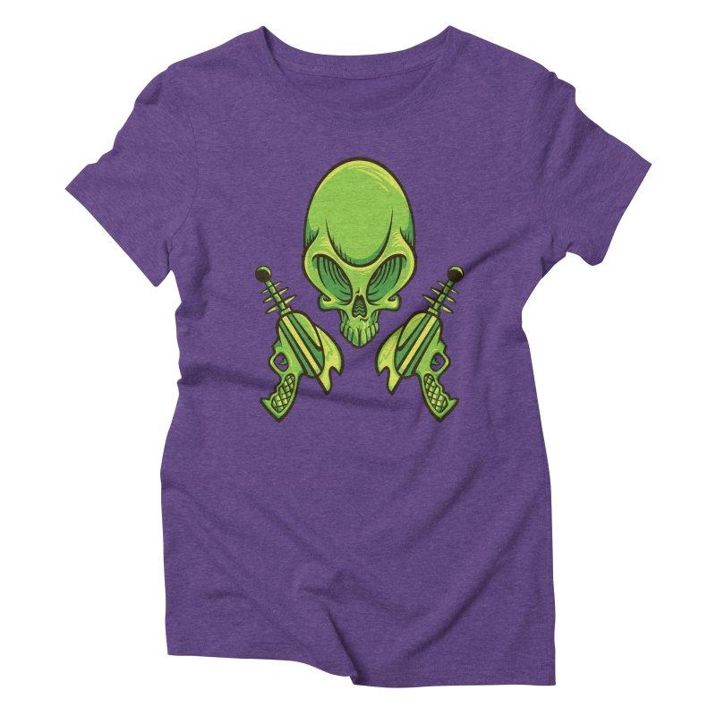Alien Skull Women's Triblend T-shirt by bennygraphix's Artist Shop