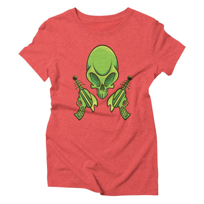 Alien Skull Women's Triblend T-Shirt by bennygraphix's Artist Shop