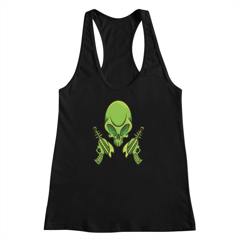 Alien Skull Women's  by bennygraphix's Artist Shop