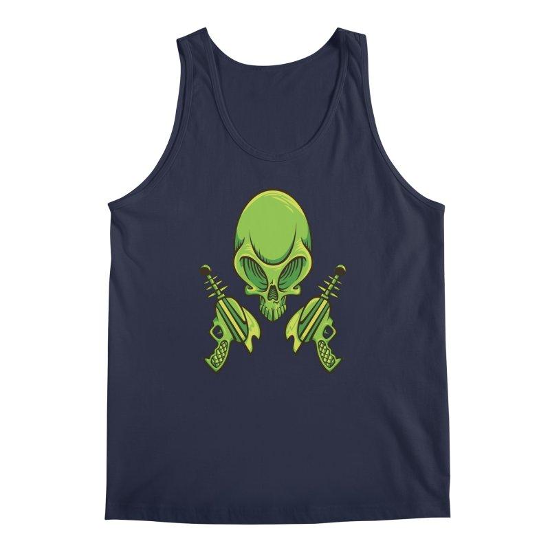 Alien Skull Men's Tank by bennygraphix's Artist Shop