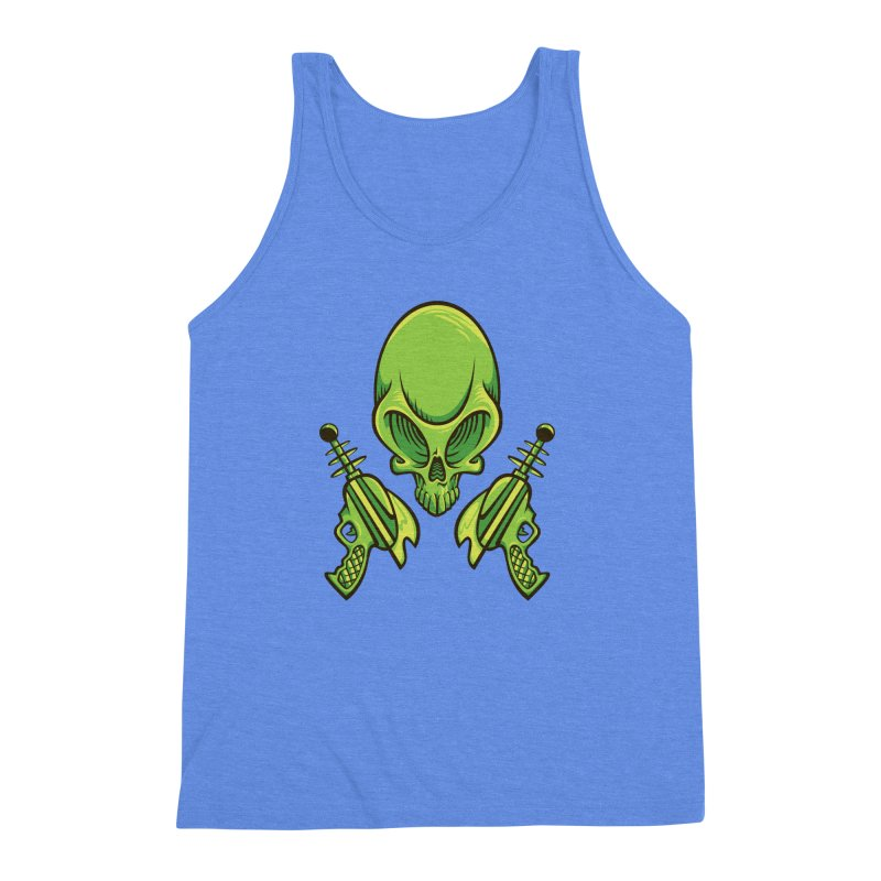 Alien Skull Men's Triblend Tank by bennygraphix's Artist Shop