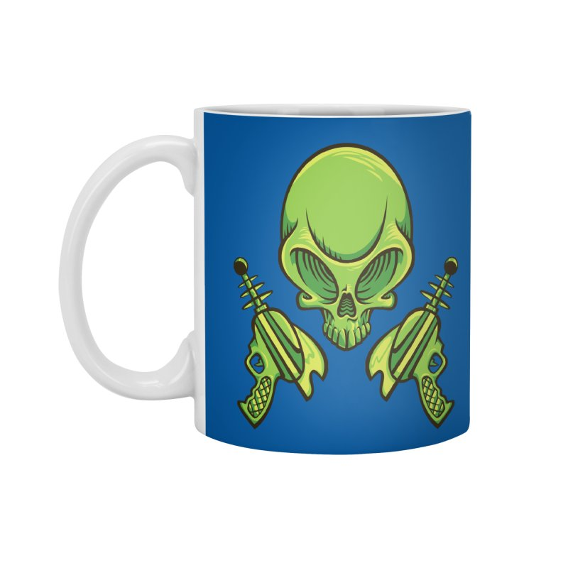 Alien Skull Accessories Mug by bennygraphix's Artist Shop
